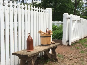 Garden gate and historic tools