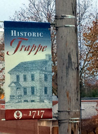 Historic Trappe banner featuring The Speaker's House